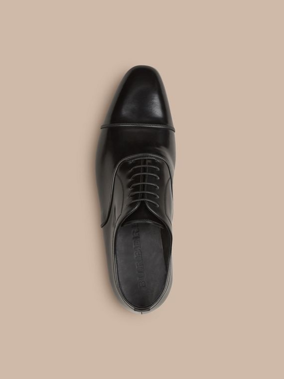 Black Classic Leather Oxford Shoes - cell image 2