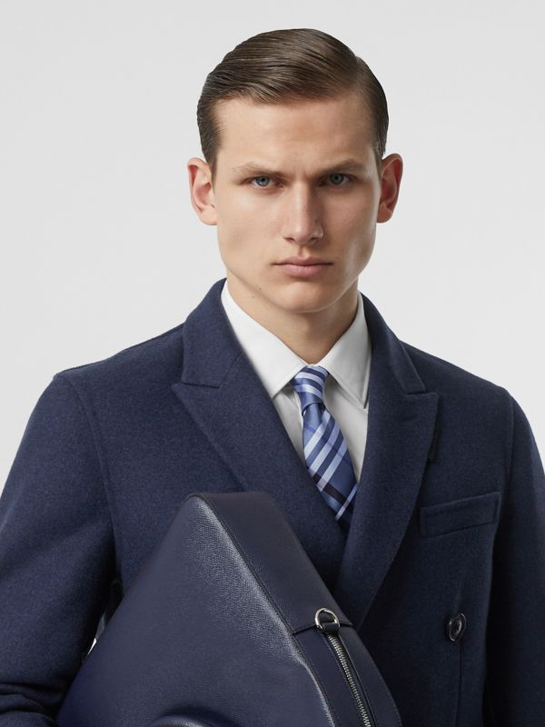 Classic Cut Vintage Check Silk Tie in Light Steel Blue - Men | Burberry Canada - cell image 2