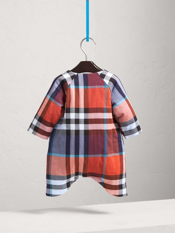 Check Cotton Padded Playsuit | Burberry Hong Kong - cell image 3