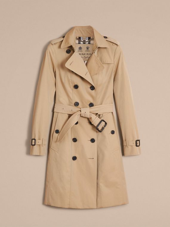 The Sandringham – Long Heritage Trench Coat in Honey - cell image 3