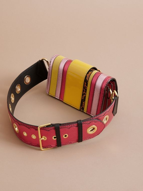 The Small Buckle Bag in House Check and Leather Bright Pink - cell image 2