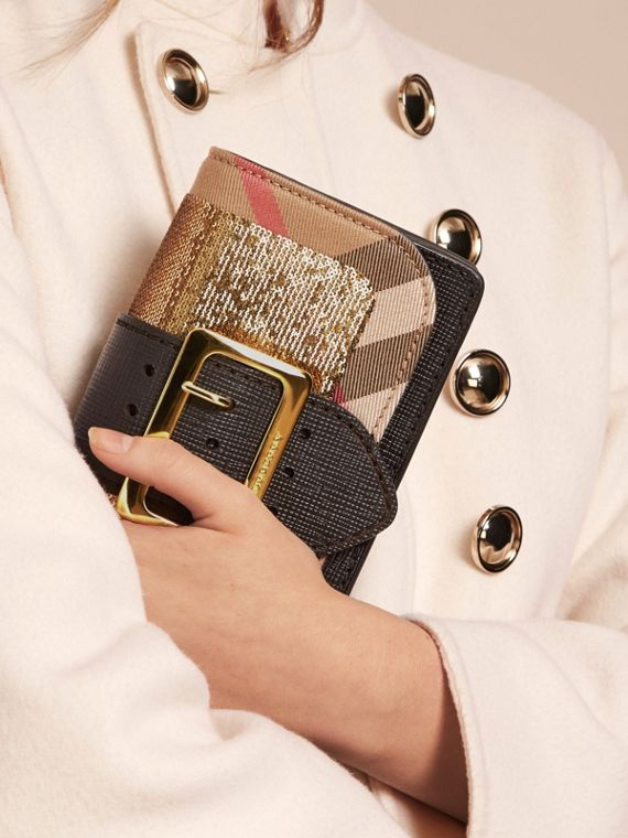 The Small Buckle Bag in Sequins and House Check - cell image 3