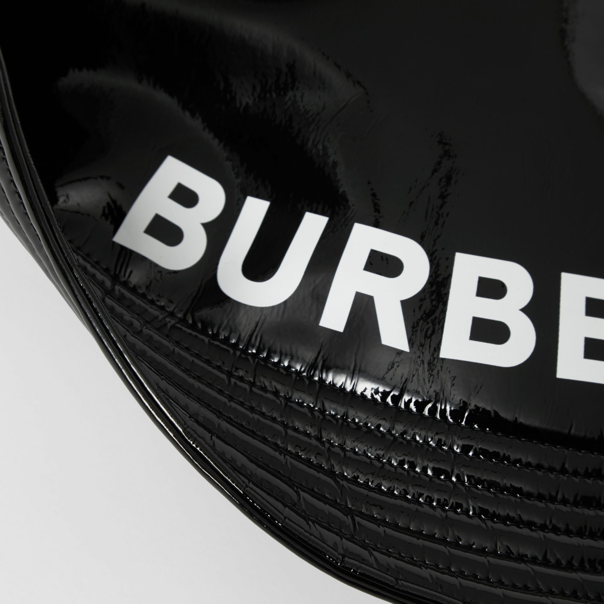 Logo Print Rain Hat in Black | Burberry - gallery image 4