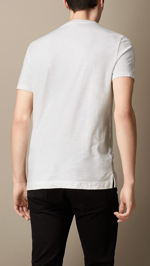 White Slub Jersey Double Dyed T-Shirt - Image 2