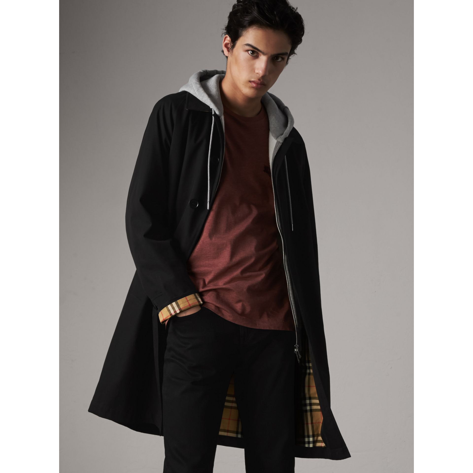 The Camden – Long Car Coat in Black - Men | Burberry United States - gallery image 5