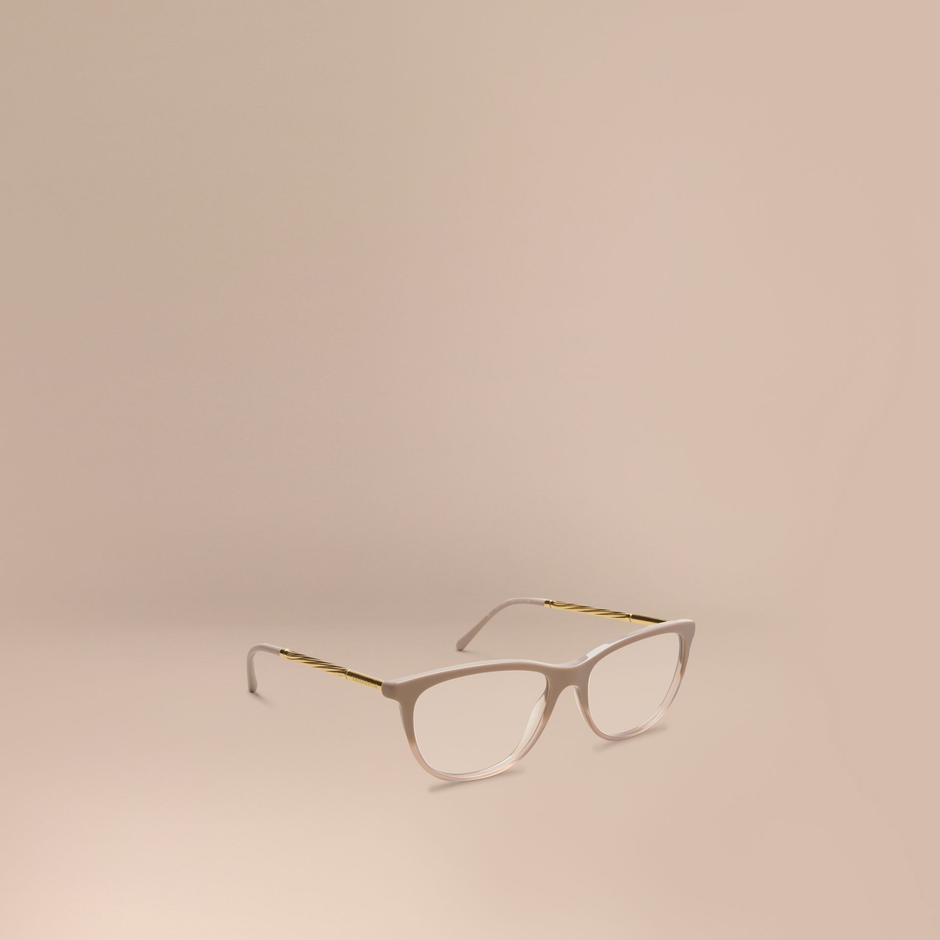 Gabardine Collection Cat-Eye Optical Frames in Honey - gallery image 1