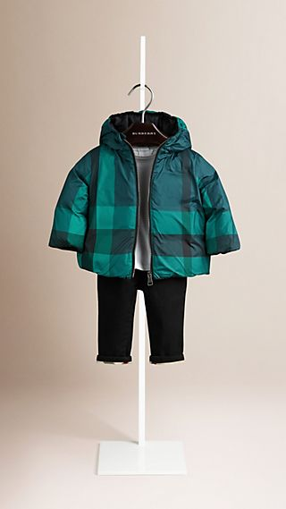 Check Reversible Down-filled Jacket