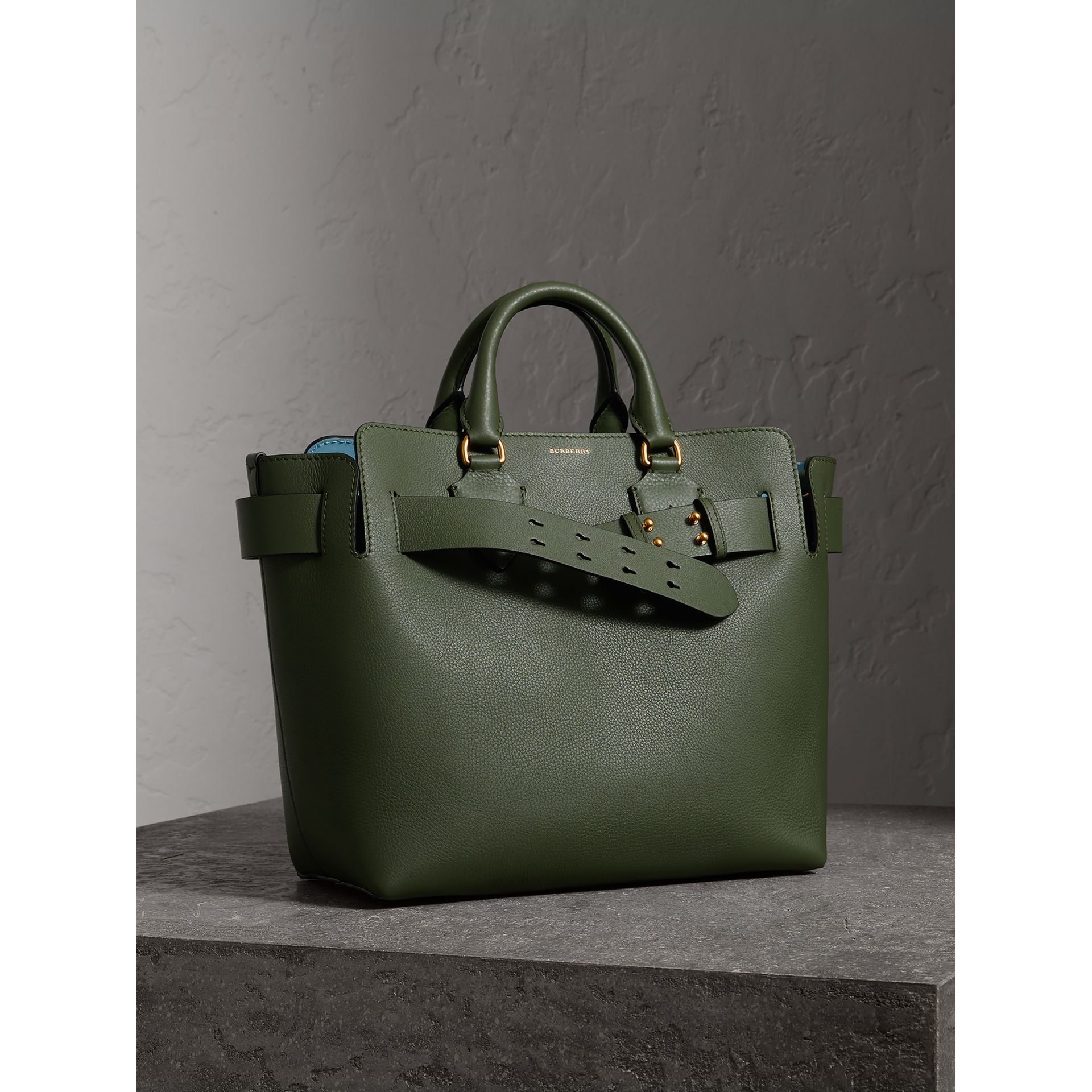 The Medium Leather Belt Bag in Sage Green - Women | Burberry - gallery image 7