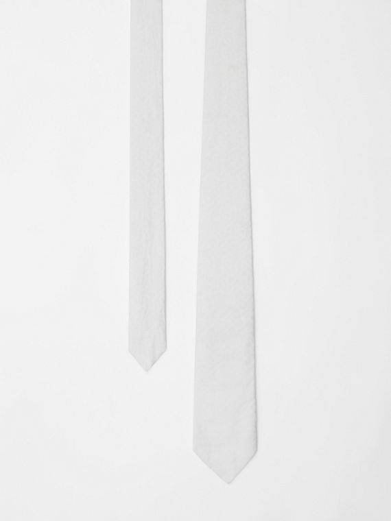 Classic Cut Monogram Silk Jacquard Tie in White