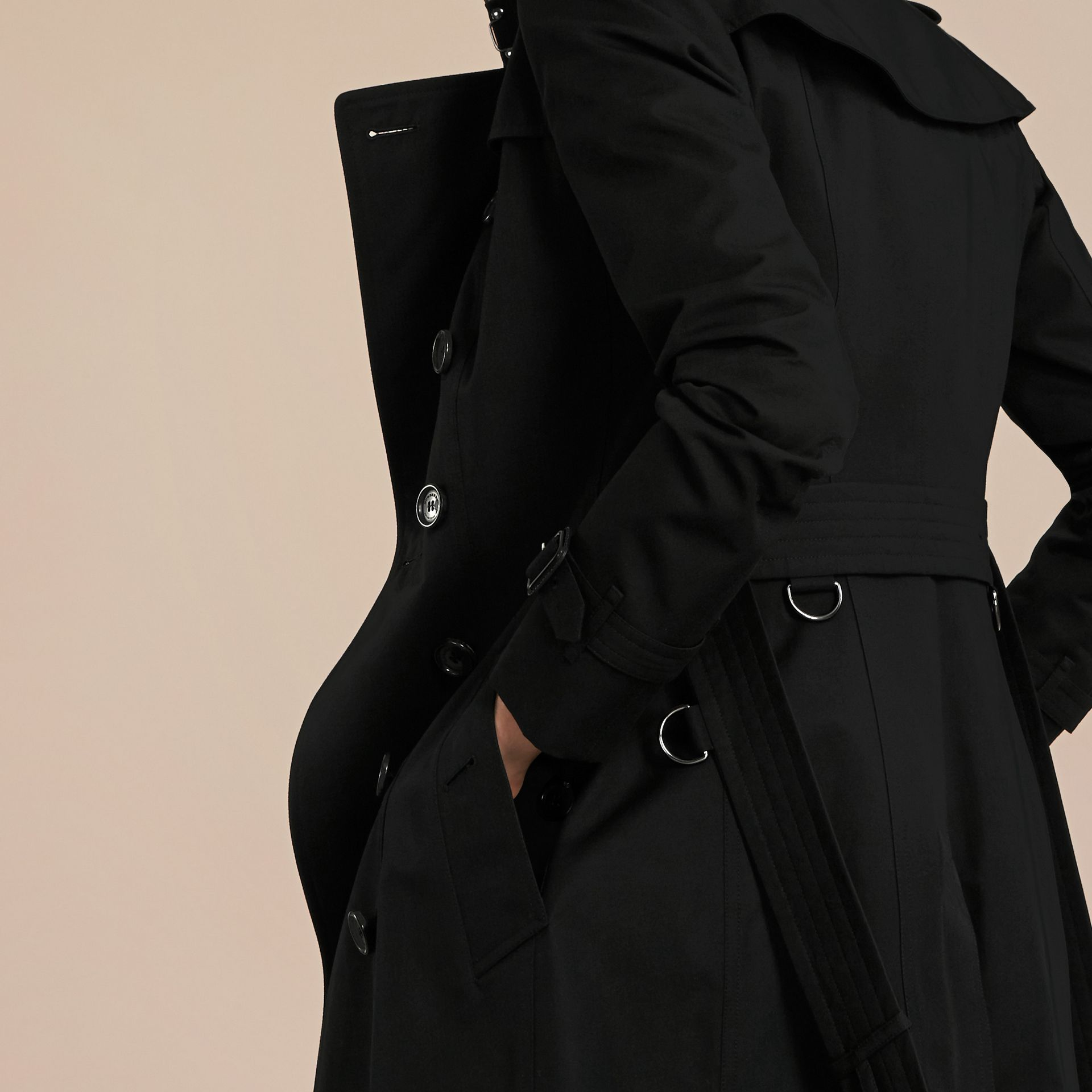 Black The Chelsea – Extra-long Heritage Trench Coat Black - gallery image 7