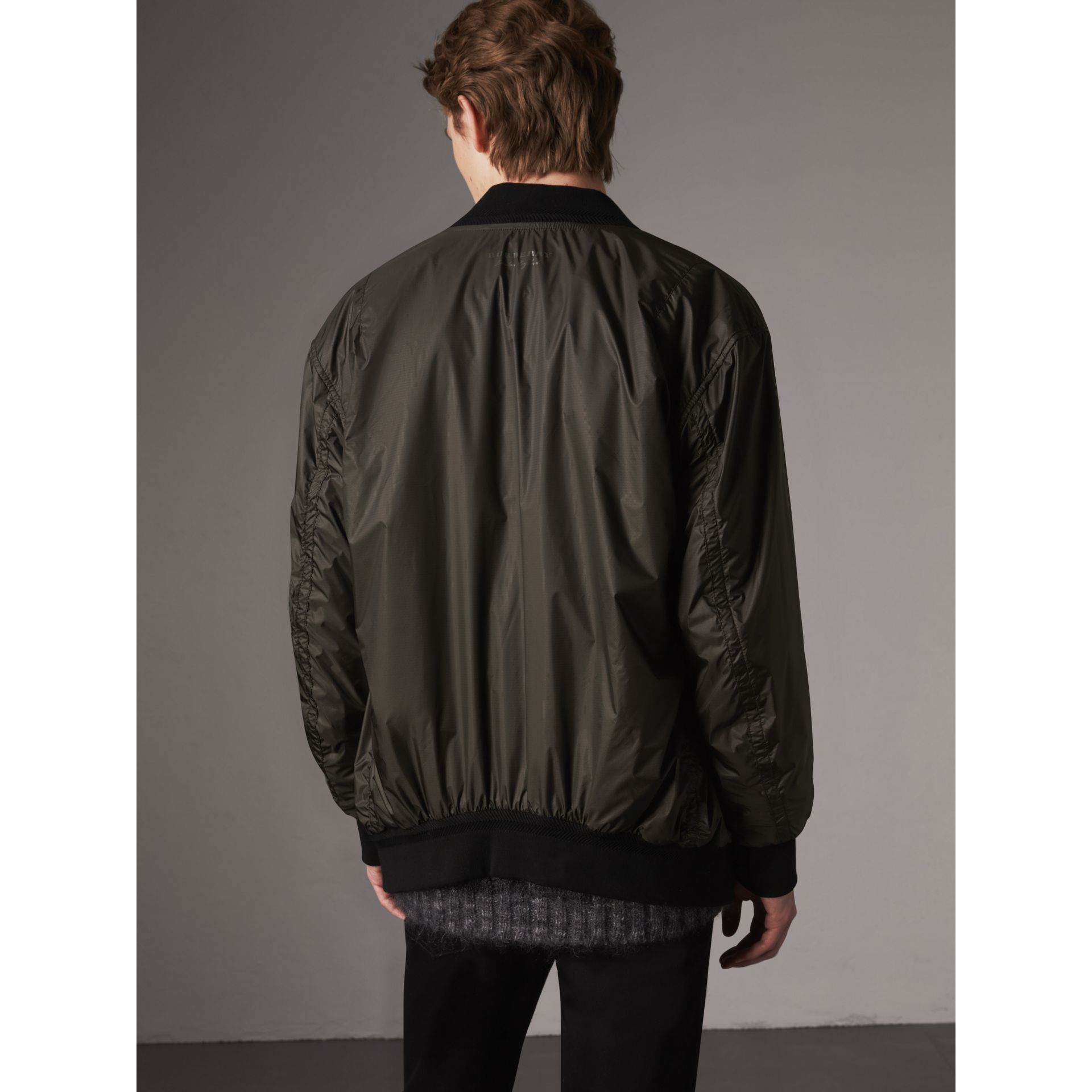 Lightweight Bomber Jacket in Dark Olive - Men | Burberry - gallery image 3