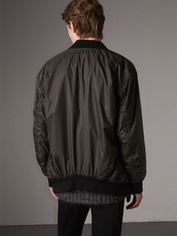 Lightweight Bomber Jacket in Dark Olive - Men | Burberry - cell image 2