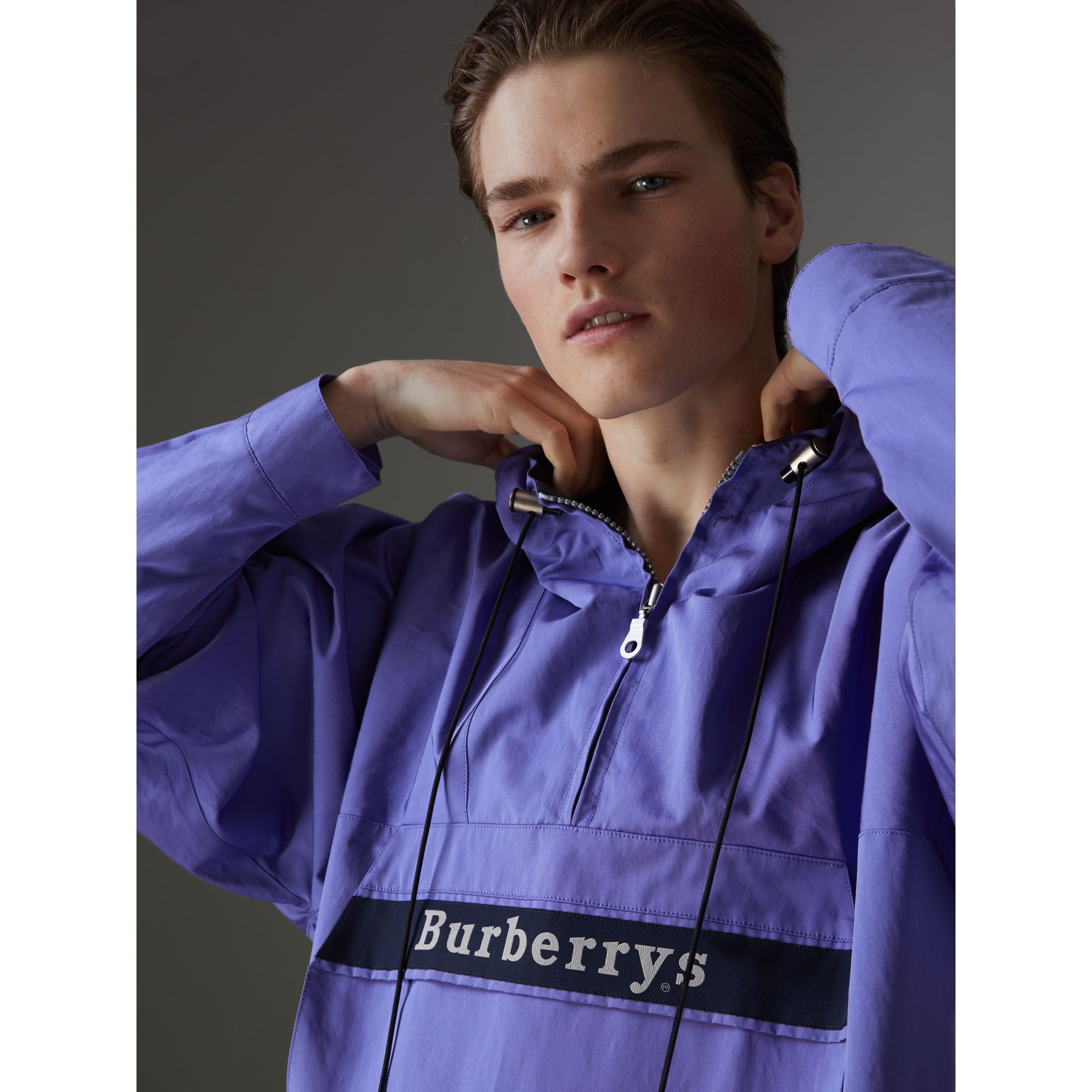 Reissued Hooded Anorak in Purple - Men | Burberry United States - gallery image 1