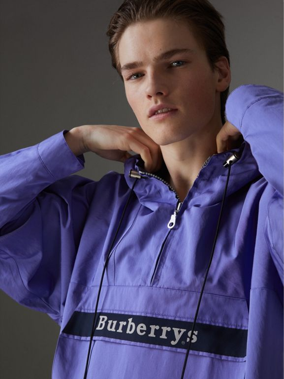 Reissued Hooded Anorak in Purple - Men | Burberry United States - cell image 1