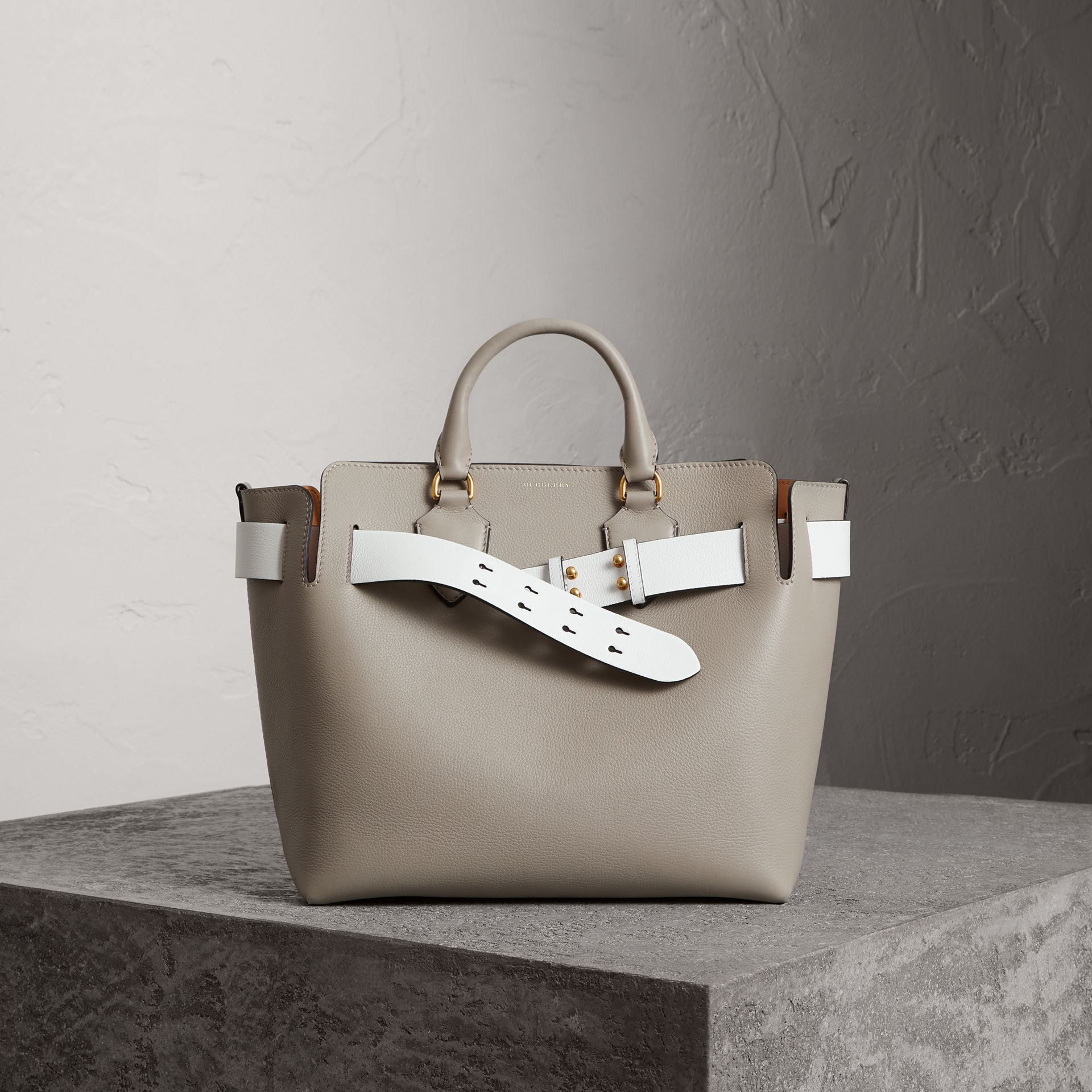The Medium Leather Belt Bag in Mineral Grey - Women | Burberry - gallery image 0