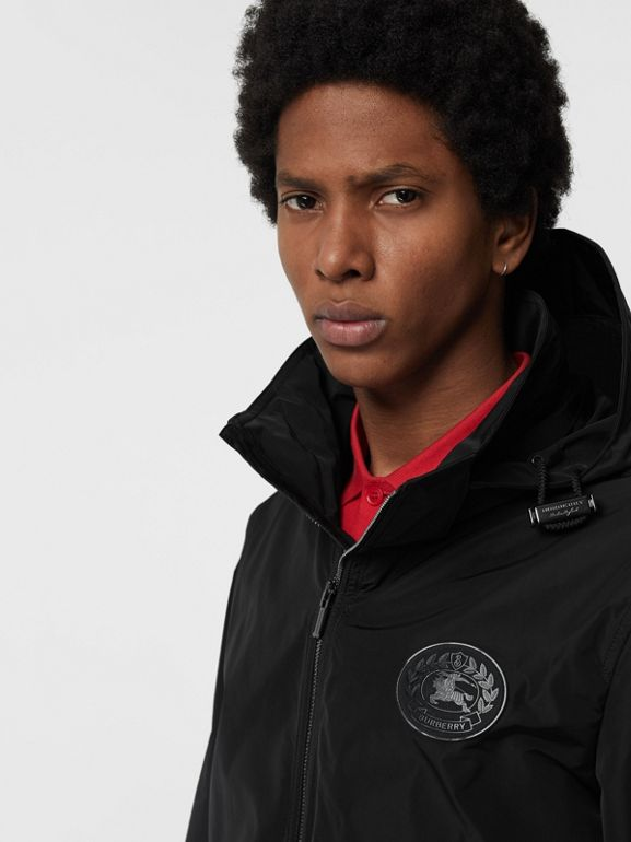Packaway Hood Shape-memory Taffeta Jacket in Black - Men | Burberry Australia - cell image 1