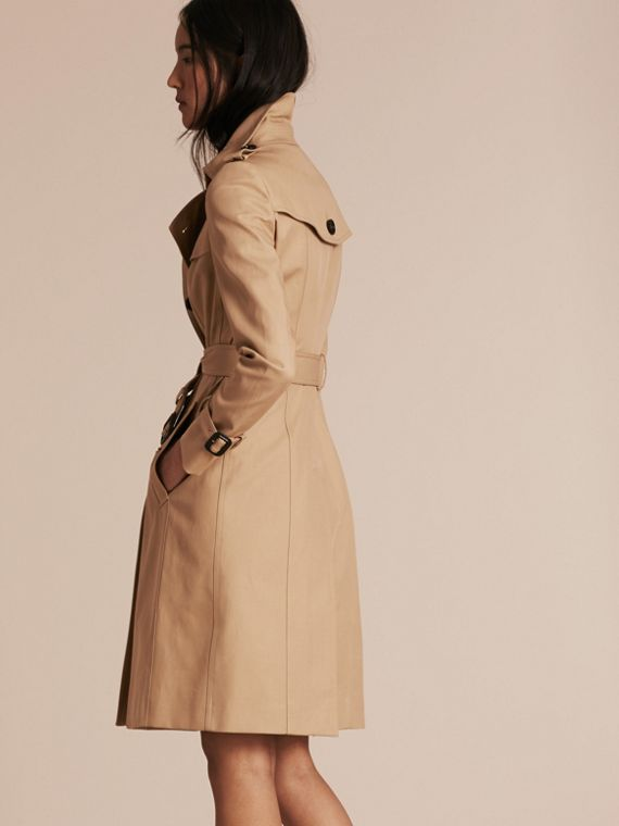 Honey Cotton Gabardine Trench Coat Honey - cell image 2