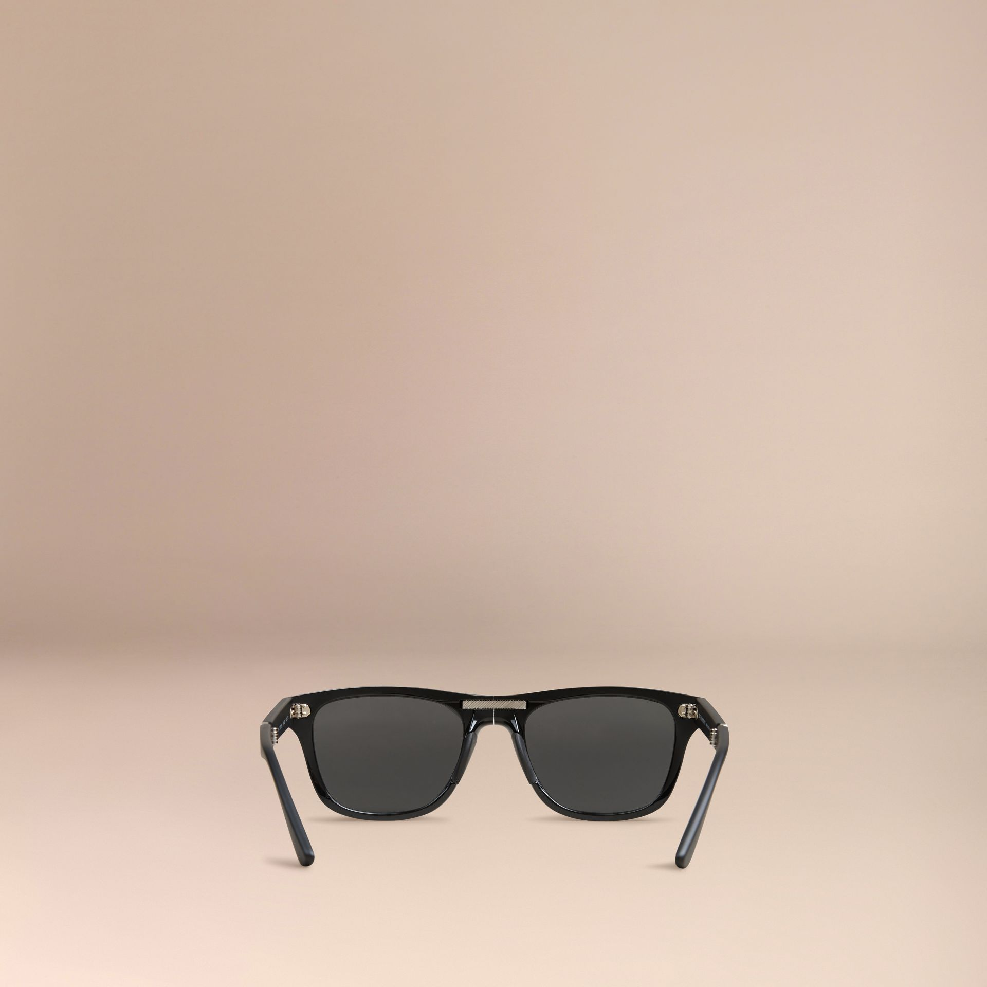 Black Folding Rectangular Frame Sunglasses Black - gallery image 5