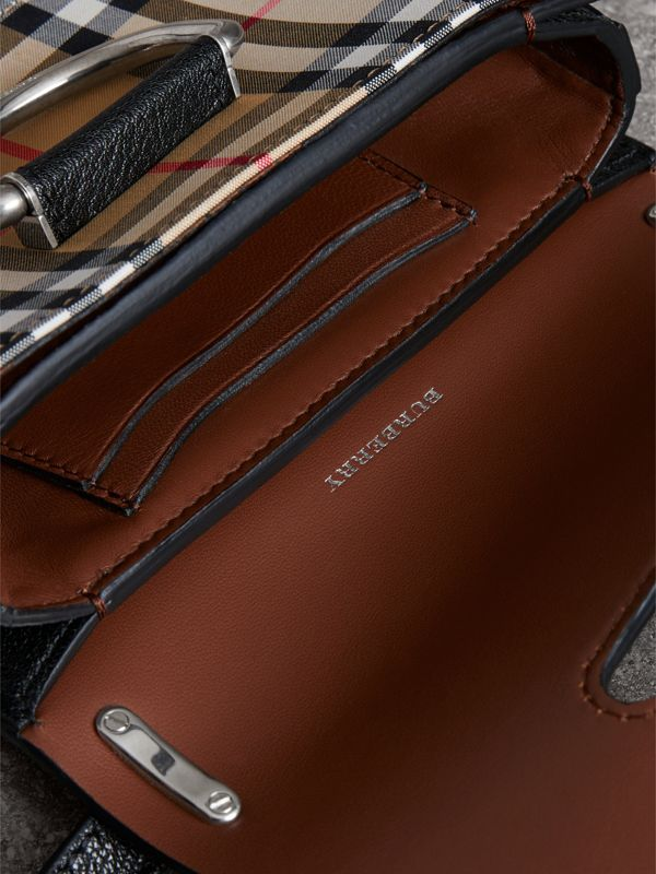 The Mini Vintage Check and Leather D-ring Bag in Black - Women | Burberry Hong Kong - cell image 3