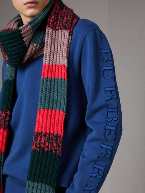 Cotton Jersey Sweatshirt in Bright Blue - Men | Burberry - cell image 1