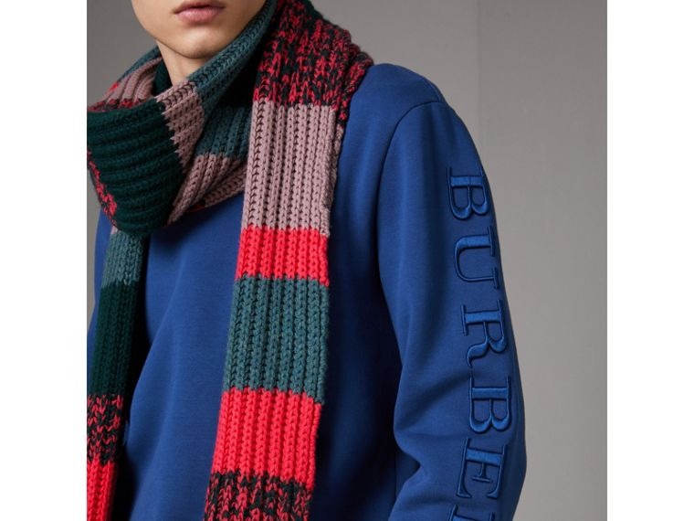 Cotton Jersey Sweatshirt in Bright Blue - Men | Burberry United Kingdom - cell image 1
