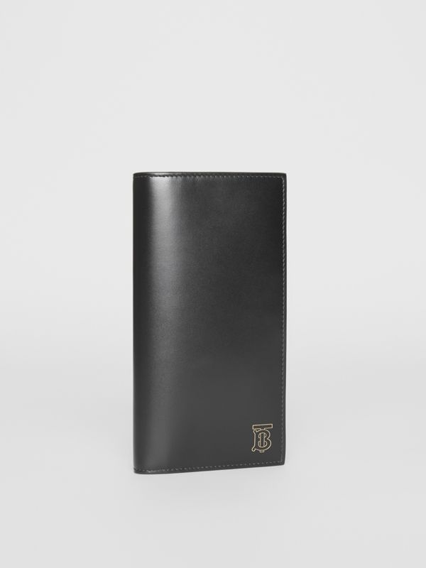 Monogram Motif Leather Continental Wallet in Black - Men | Burberry - cell image 3