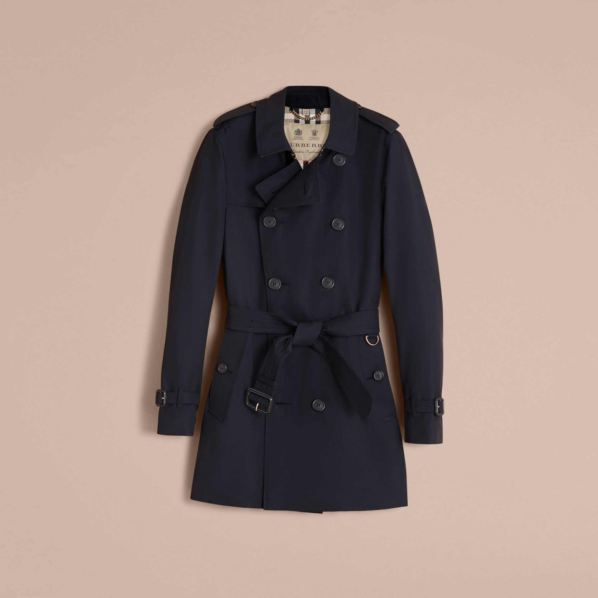The Sandringham – Mid-length Heritage Trench Coat in Navy - gallery image 4