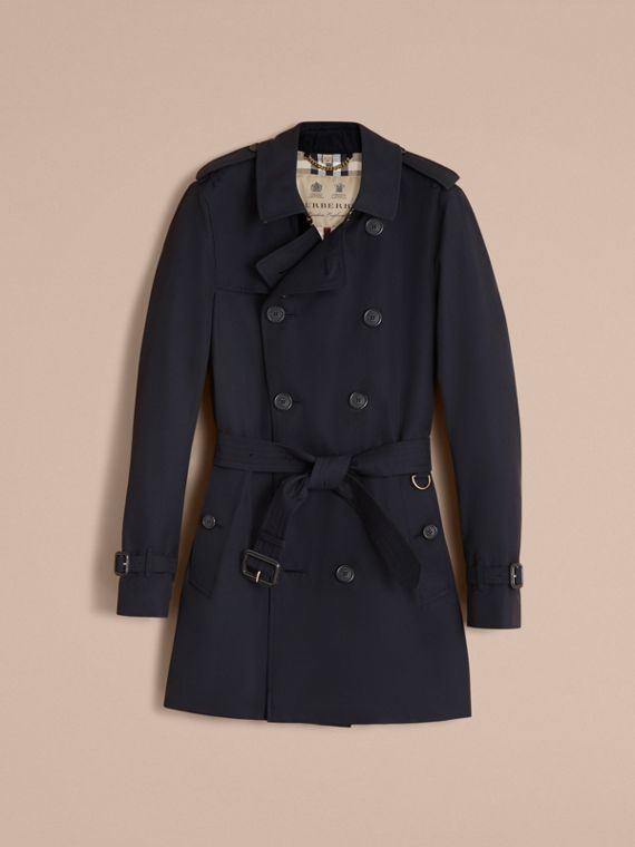 The Sandringham – Mid-length Heritage Trench Coat in Navy - cell image 3