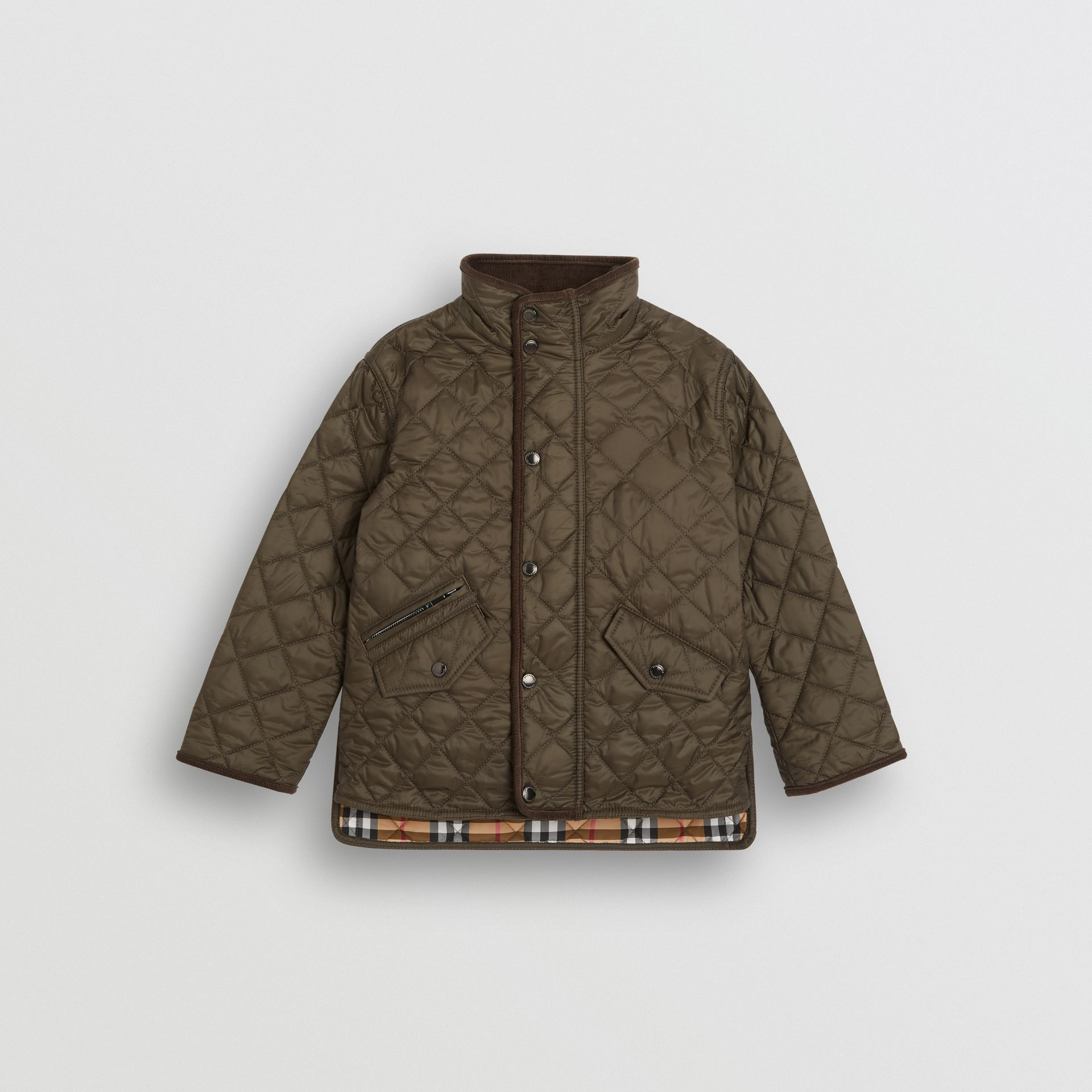 Lightweight Diamond Quilted Jacket in Olive | Burberry United Kingdom - gallery image 0