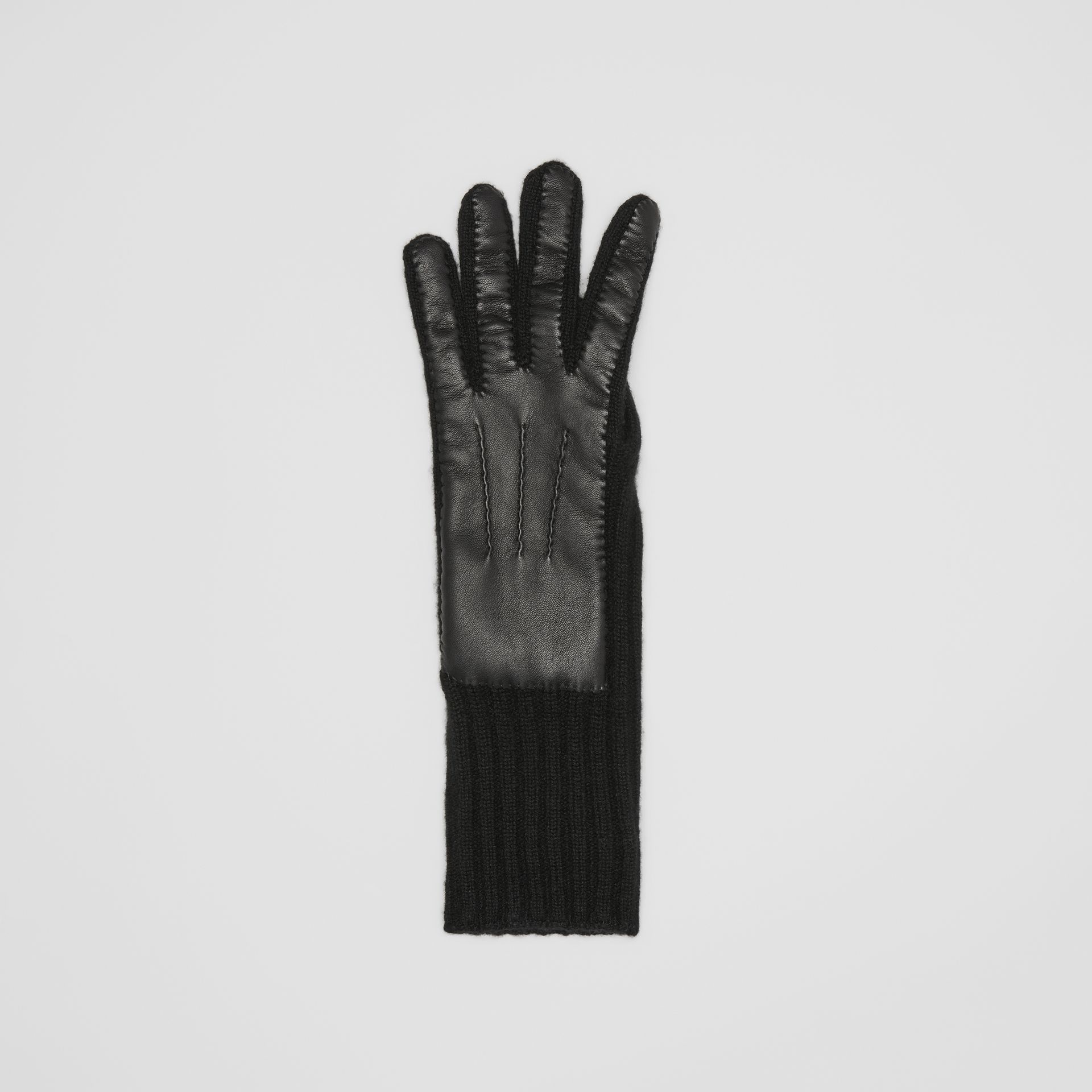 Cashmere and Lambskin Gloves in Black - Women | Burberry - gallery image 2
