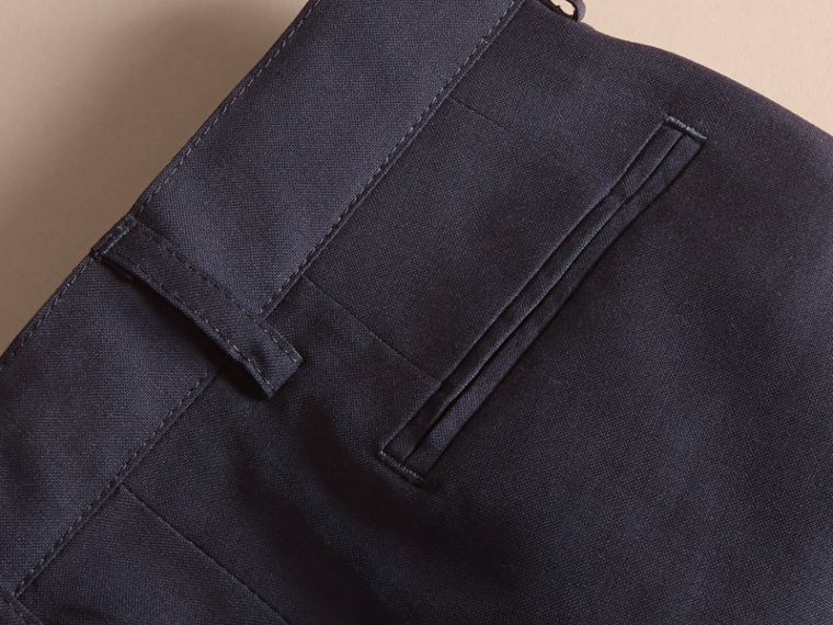 Navy Tailored Wool Trousers Navy - cell image 1