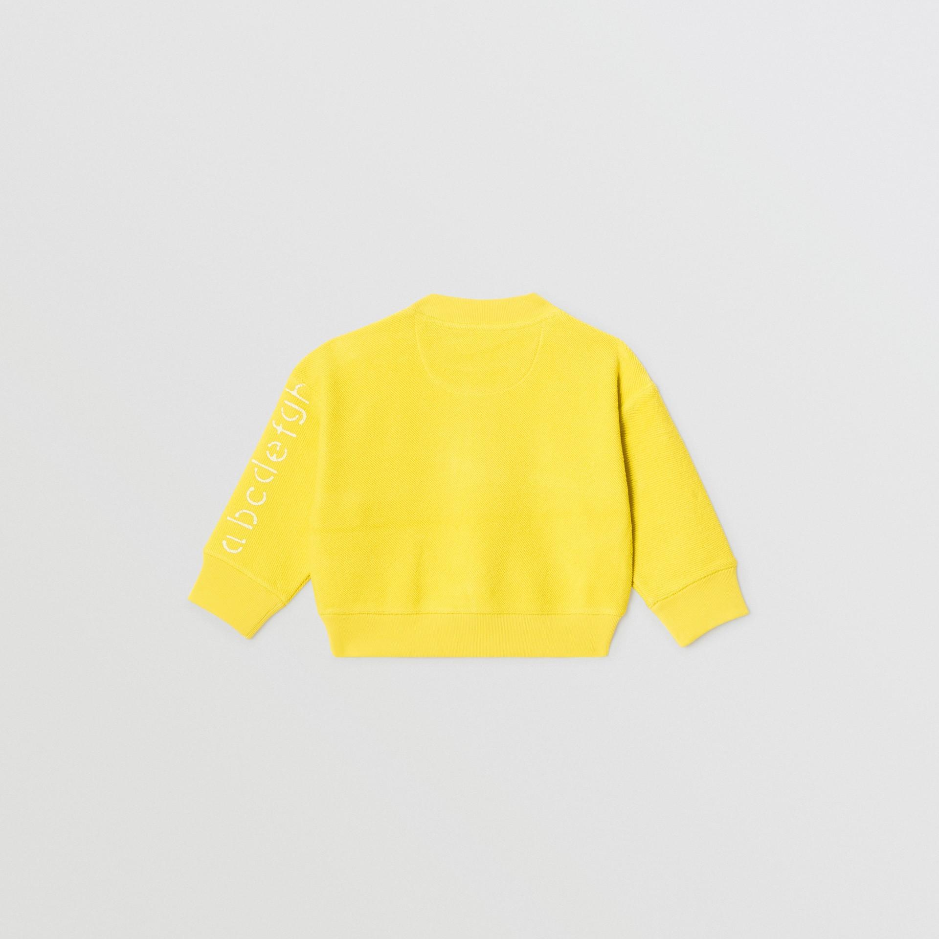 Stencil Logo Print Cotton Sweatshirt in Citron - Children | Burberry Canada - gallery image 3