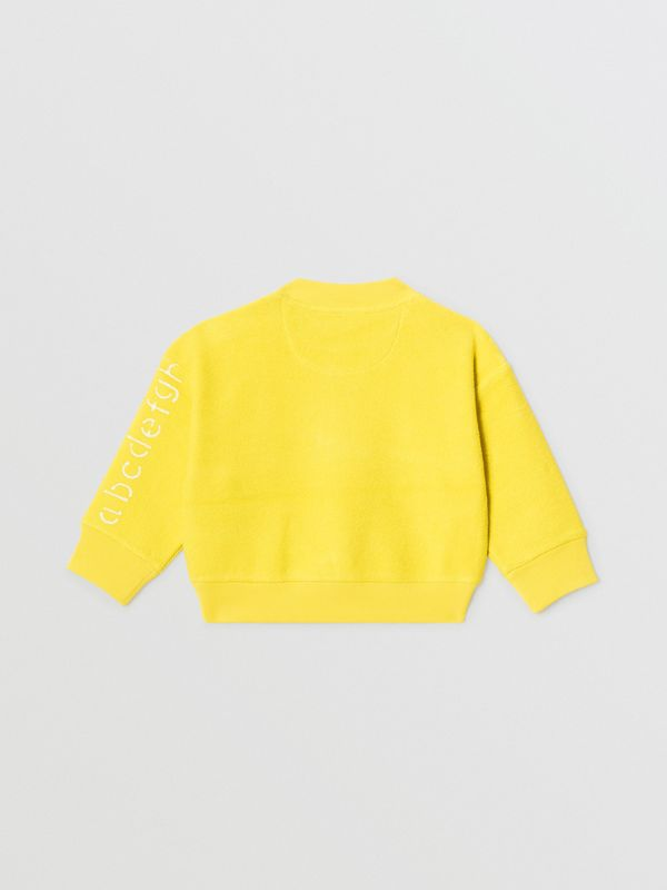Stencil Logo Print Cotton Sweatshirt in Citron - Children | Burberry - cell image 3