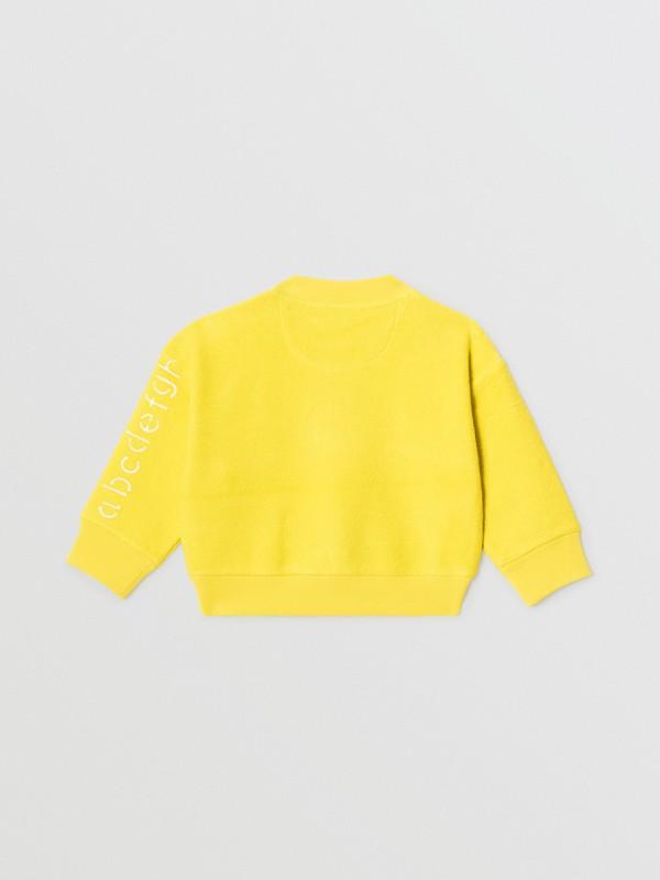 Stencil Logo Print Cotton Sweatshirt in Citron - Children | Burberry Canada - cell image 3