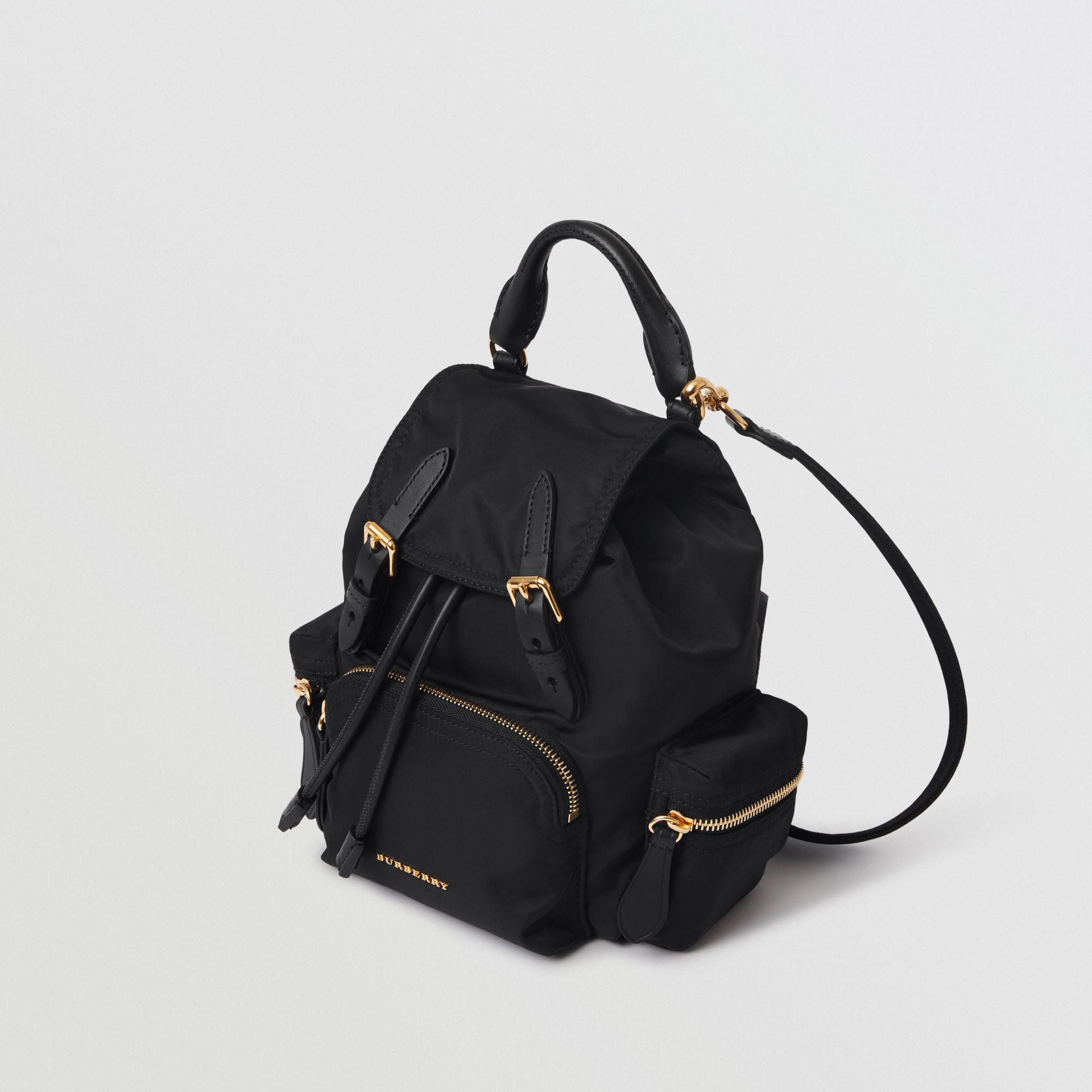 The Small Crossbody Rucksack in Nylon in Black - Women | Burberry United Kingdom - gallery image 4
