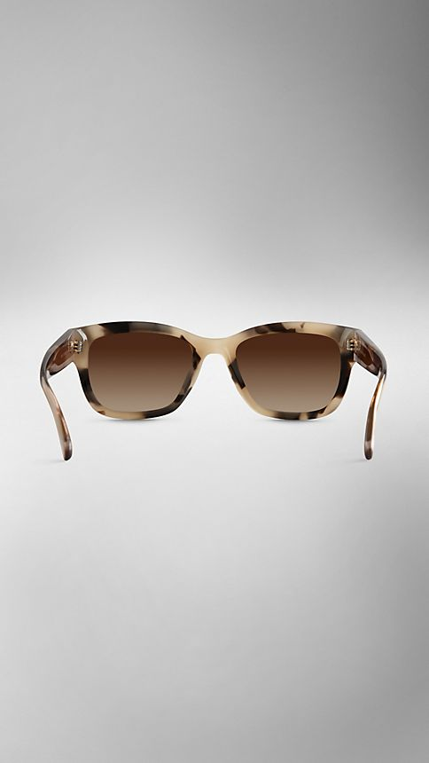 Mid tone horn Trench Collection Square Frame Sunglasses - Image 3