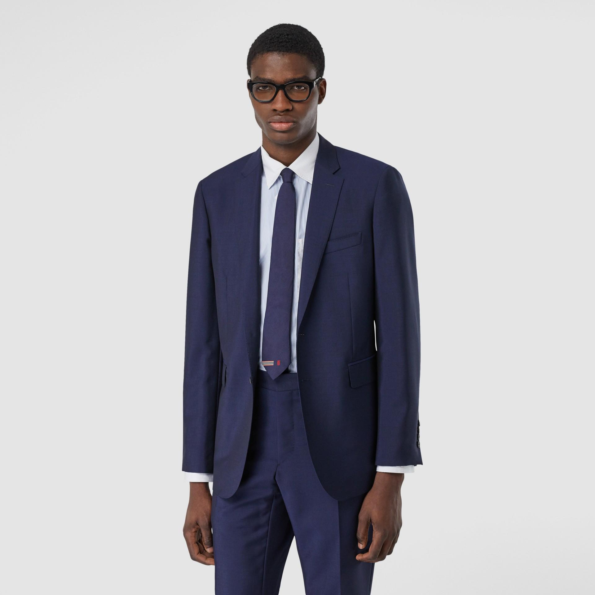 Slim Fit Wool Mohair Suit in Bright Navy - Men | Burberry United Kingdom - gallery image 6