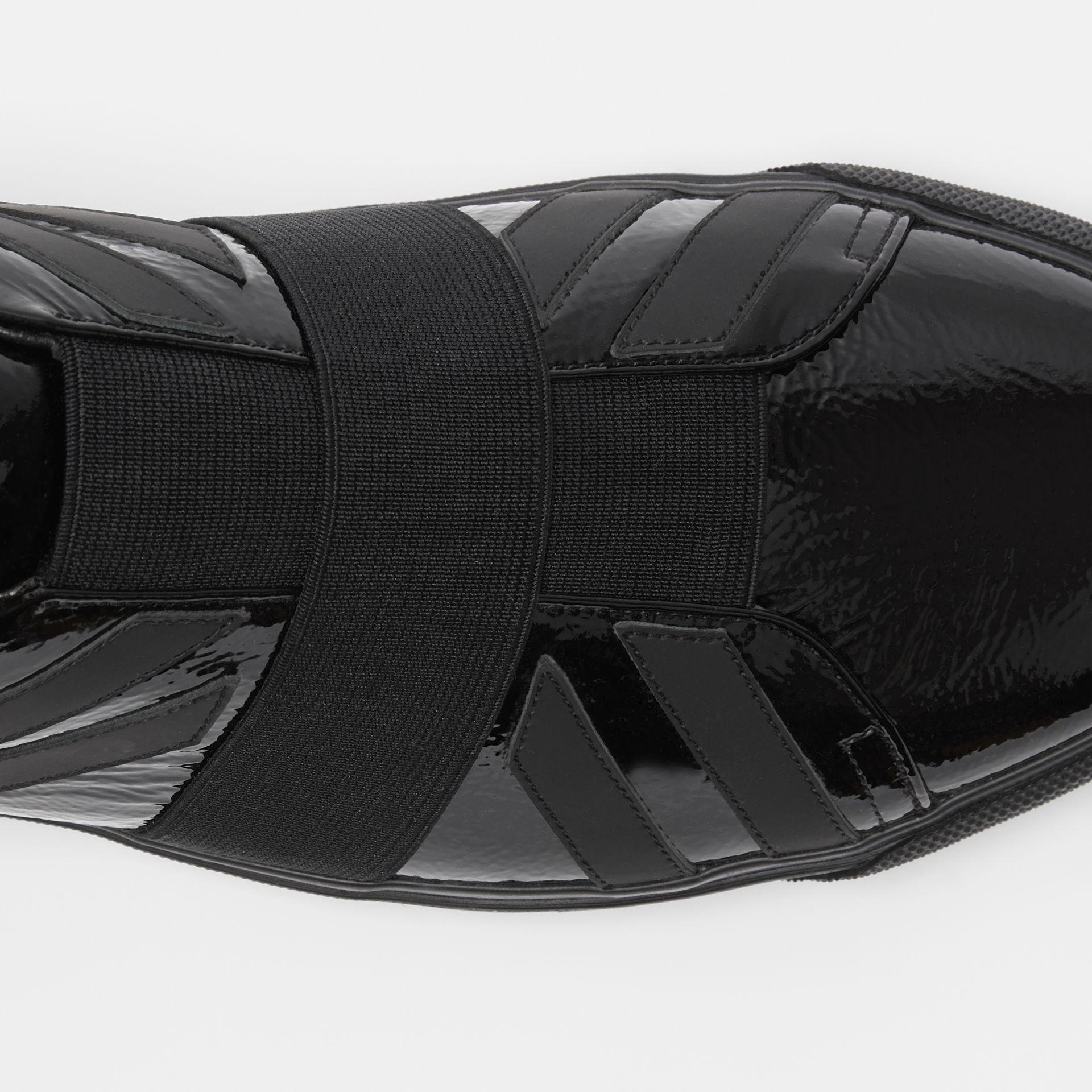 Union Jack Motif Slip-on Sneakers in Black - Men | Burberry United Kingdom - gallery image 1