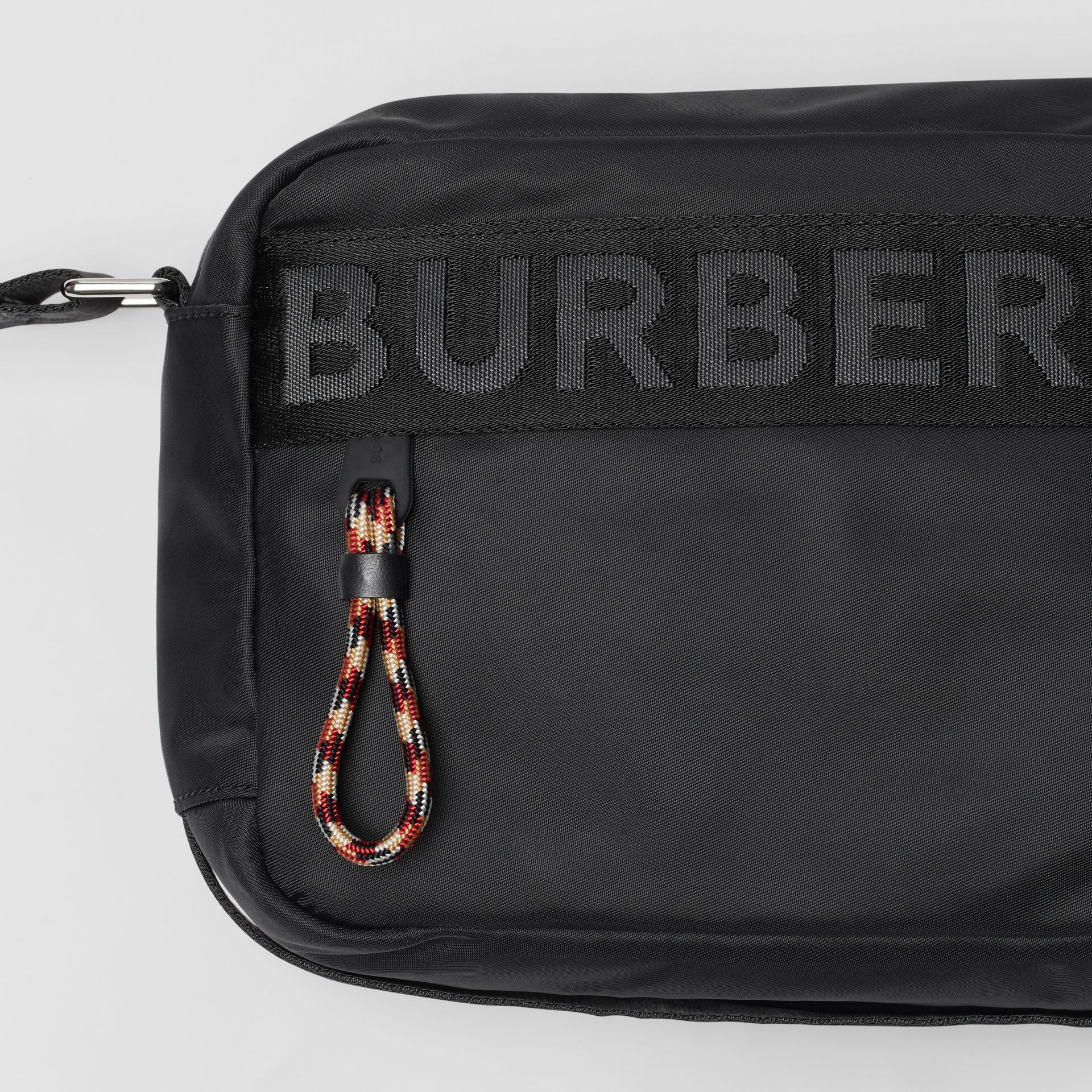 Logo Detail Crossbody Bag in Black | Burberry Singapore - gallery image 1