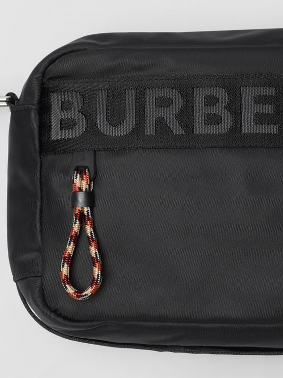 Logo Detail Crossbody Bag in Black | Burberry Singapore - cell image 1