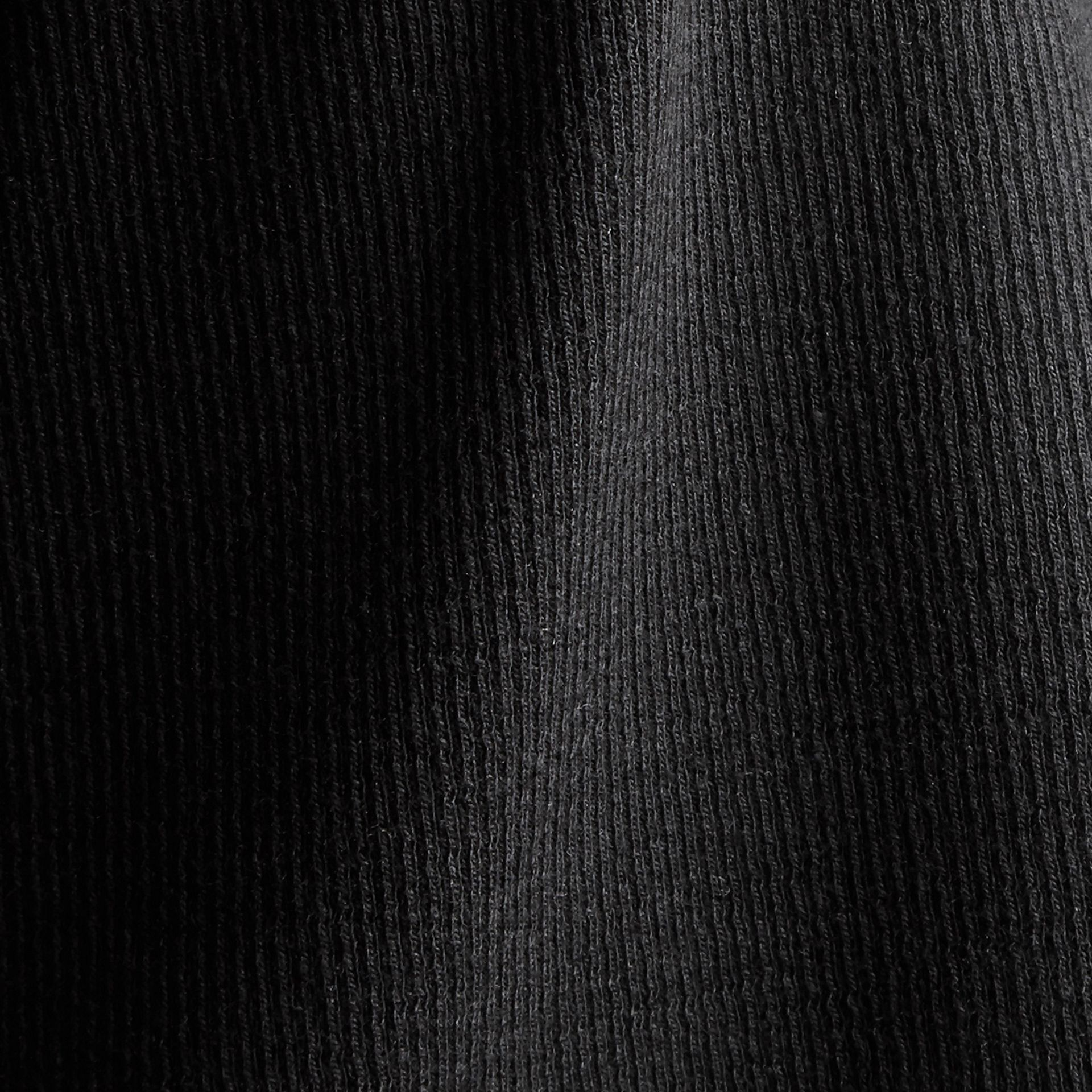 Black Stretch Cotton Lyocell Vest Black - gallery image 2