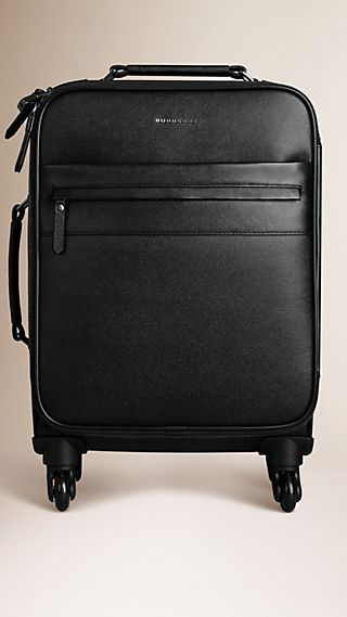 London Leather Four-Wheel Suitcase