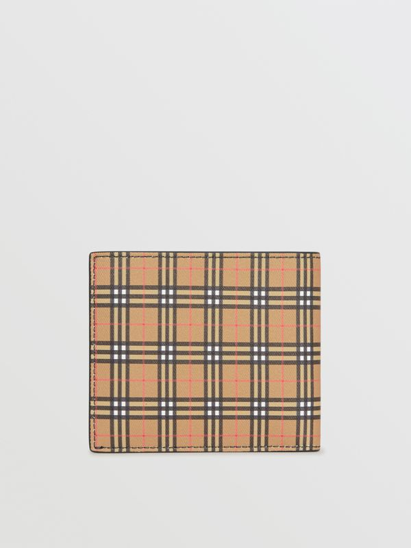 Small Scale Check International Bifold Wallet in Antique Yellow/dark Grey - Men | Burberry - cell image 2