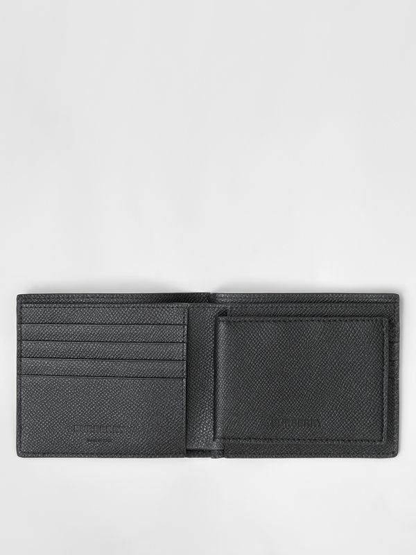 Grainy Leather Bifold Wallet with ID Card Case in Black - Men | Burberry - cell image 2