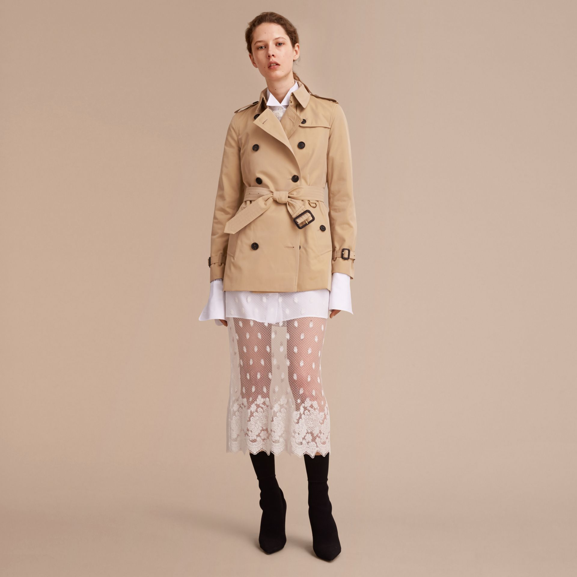 Honey The Kensington – Short Heritage Trench Coat Honey - gallery image 8
