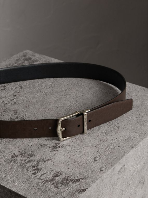 Reversible London Leather Belt in Black/chocolate - Men | Burberry United Kingdom - cell image 3