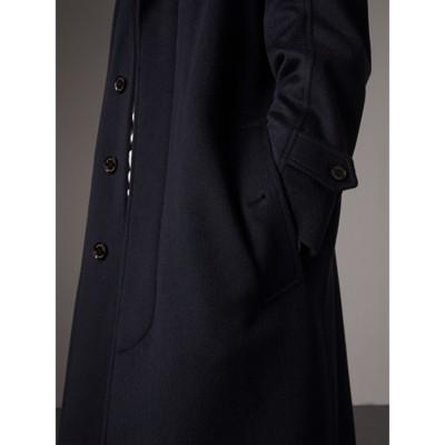 Cashmere Car Coat in Navy - Men | Burberry