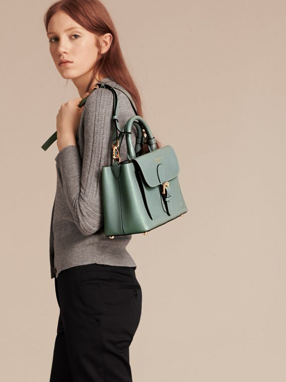 Smokey green The Small Saddle Bag in Grainy Bonded Leather Smokey Green - cell image 2