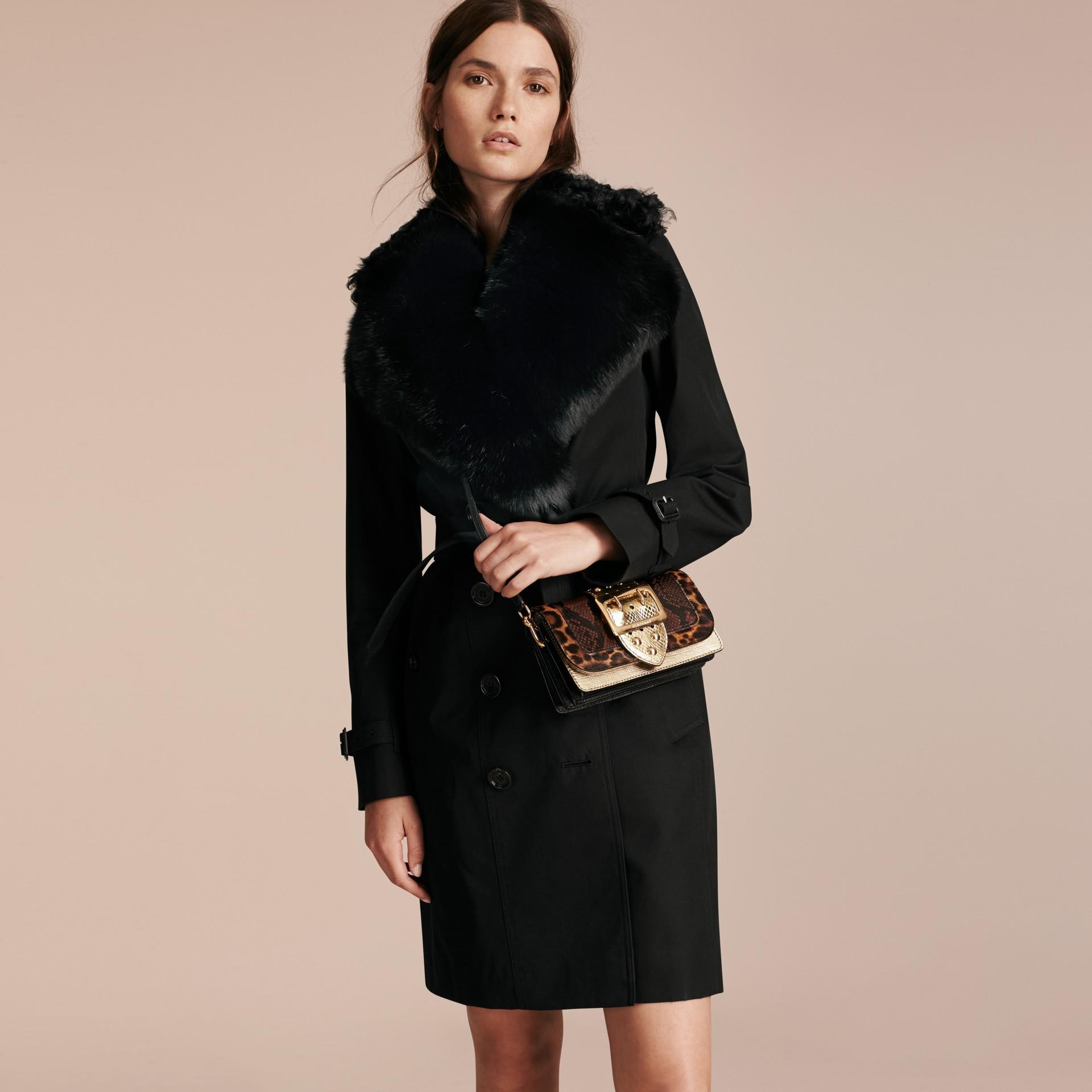 Or/noir Petit sac The Buckle à sequins et motif House check - photo de la galerie 8