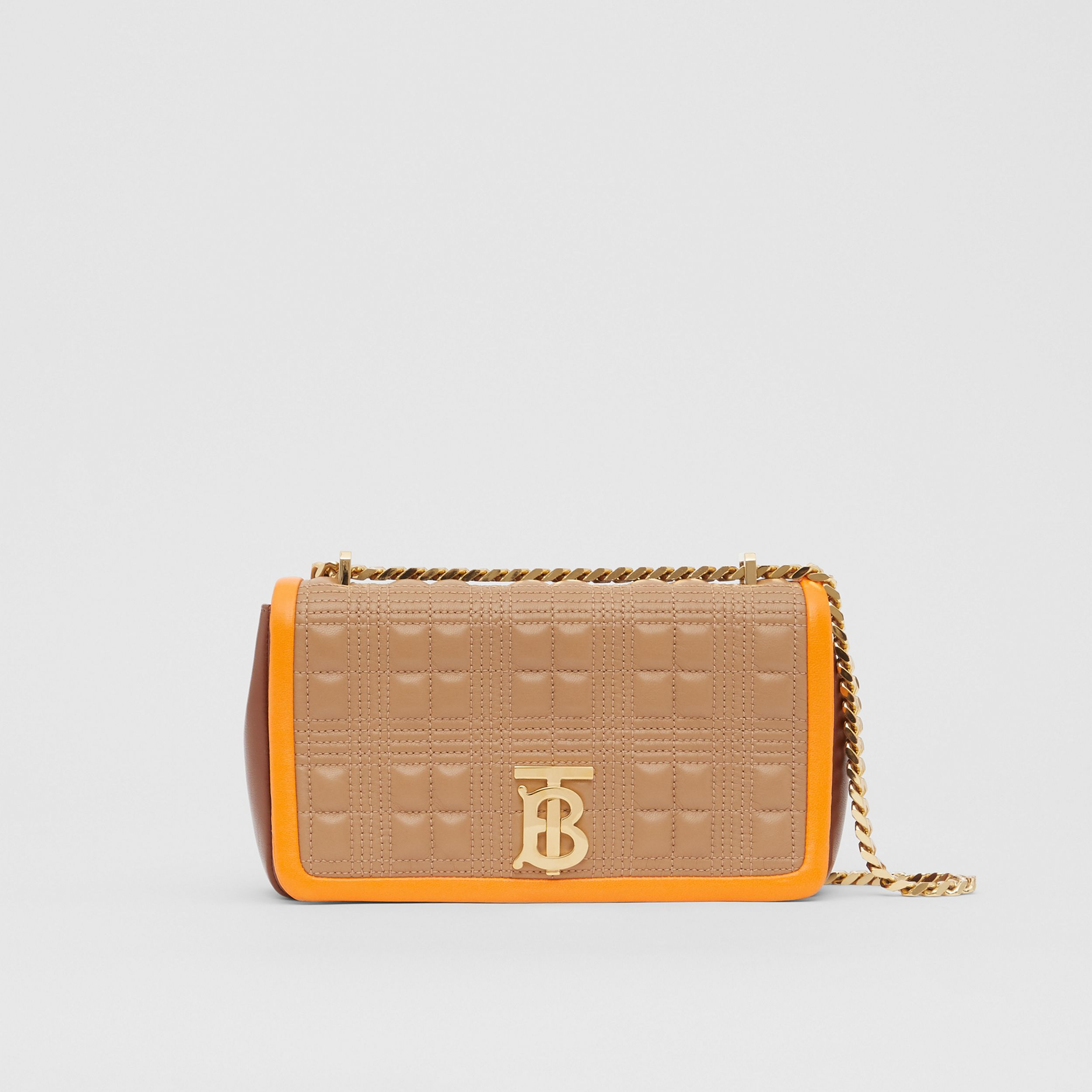 Small Quilted Tri-tone Lambskin Lola Bag in Camel/bright Orange - Women | Burberry - 1